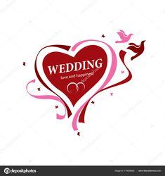 Letöltés - Vektor logo esküvő — Stock Illusztráció Wedding Logos, Branding, Illustration, Happy, Image, Brand Management, Illustrations, Brand Identity, Happiness