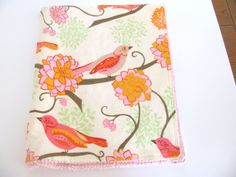 Baby Blanket in Songbird Paisley Flannel and by ButterBrickleBaby, $29.00