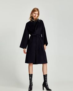 Image 1 of LONG COAT WITH BELT from Zara
