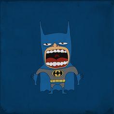 Screaming Batman By Roberto Salvador