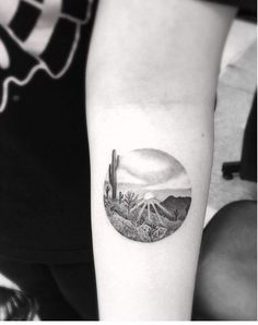by Dr woo tattoo / cactus / sun / landscape