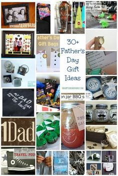 Father's Day Collage-posted by Melissa- I've rounded up over 30 DIY Father's Day gift ideas from some of my favorite bloggers. With these projects for inspiration you're sure to make the day of all the Dads on your list!
