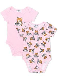 3474f458a280f Moschino Kids Set Of Two Teddy Bear Print Bodysuits - Farfetch