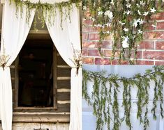Jasmine garland Wedding Arch Garland Cascading Garland Natural Hanging Vines Greenery garland Fall garland Winter garland This Artificial Draping Jasmine Leaf Garland gives you six feet of greenery to drape over mantels, Fall Garland, Greenery Garland, Leaf Garland, Greenery Centerpiece, Garland Wedding, Wedding Flowers, Wedding Backdrops, Diy Wedding, Wedding Ideas