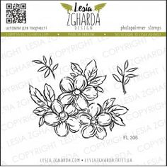 Tampon Lesia Zgharda - Flowers Flower Stamp, Flower Cards, Tampons Transparents, Buy Stamps, Scrapbooking, Make Design, Clear Stamps, Beautiful Flowers, Card Making