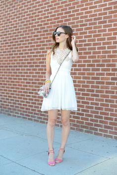 dress c/oMissguided, shoes c/o Missguided, purse Forever 21 {similar}, sunglasses Karen Walker, bracelets Ily Couture, Karen London