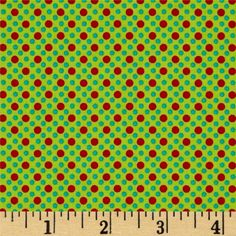 Michael Miller Dim Dots Santa from @fabricdotcom  From Michael Miller, this cotton print is perfect for quilting, apparel and home decor accents. Colors include red and shades of green.