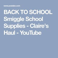 BACK TO SCHOOL Smiggle School Supplies - Claire's Haul - YouTube