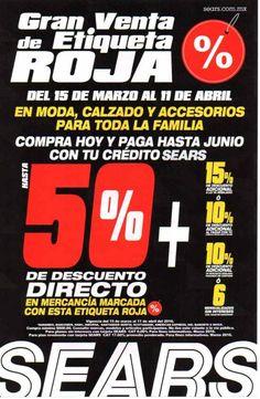 09d908905 Sears Gran Venta de Etiqueta Roja. Promocion Descuentos · Promociones en  México
