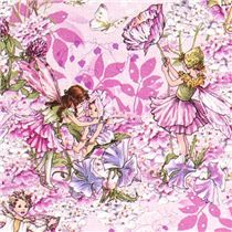 lilac Michael Miller fabric Night Fairies glitter - Flower Fabric - Fabric - kawaii shop modeS4u