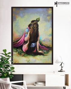 """""""The only way you can conque me is through Love and there I am gladly conquered. -Bhagavatam"""" """"If Krishna is water than Radha is fluidity of the water, ... Pranaya Magna Radha Krishna best painting"""
