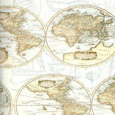 Papel decorativo mapas 100x70. Ref. 0451