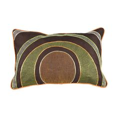 Multi Rings 13 X 20 Pillow Surya Rugs Accent Pillows Throw Pillows Bedding ($40) found on Polyvore