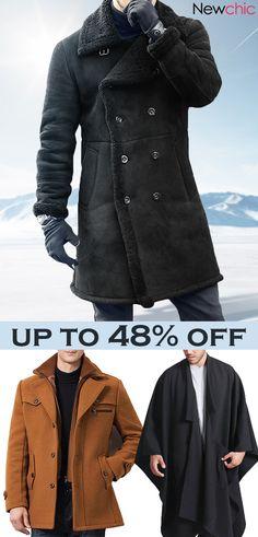 a77367e08d1a0 Men s 2018 Winter Hot Sale Warm Coats Jackets  mensfashion  outfits Mens  Leather Coats