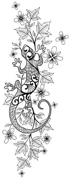8 meilleures images du tableau dessin lezard | Dessin lezard, Tatouage lezard et Tatouage gecko