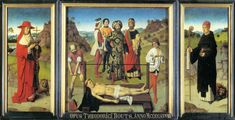 Dieric Bouts, Martyrdom of St Erasmus (central panel of triptych), c. 1458, oil on wood, 34 x 148 cm, St Peter's Leuven.