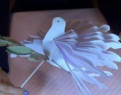 Pasqua: Colomba di carta fai da te