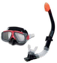 Intex Surf Rider Youth Swimming and Diving Mask Snorkel Set, Black/Red Snorkel Set, Snorkel Mask, Best Scuba Diving, Swimming Diving, Technical Diving, Camping Water, Camping Gear, Dive Mask, Scuba Diving Gear