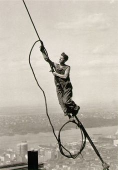 Icarus atop Empire State Building by Lewis Hine. 1931