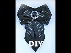 Галстук брошь на первое сентября канзаши мастер класс \ Tie brooch on September 1 kanzashi \ DIY - YouTube