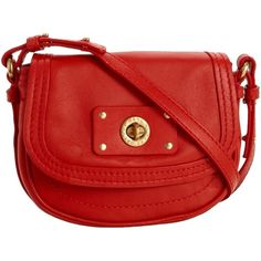 Pre-owned Marc By Marc Jacobs Totally Turnlock Tomato Red Cross Body... ($152) ❤ liked on Polyvore featuring bags, handbags, shoulder bags, red, long strap shoulder bag, man bag, handbags shoulder bags, purse shoulder bag and crossbody handbags