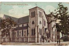 MUSKEGON, MICHIGAN - ST. JEAN'S CHURCH - 1911 POST CARD