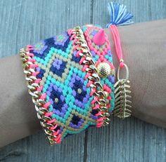 OOAK friendshipbracelet in beautiful summer colors by Ibonkza, €47.00