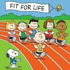 Peanuts gang stay fit