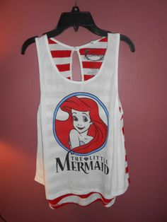 Disneys little mermaid large tank top