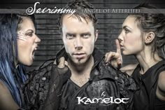 #Kamelot #Sacrimony (Angel of Afterlife).   Tommy Karevik, Alissa White-Gluz and Elize Ryd. Watch the video here: http://youtu.be/LvWT-7l6vJU  [Photo by Jeremy Saffer]