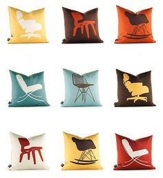 Charmant Eames Dot Mid Century Modern Throw Pillow Cover By Atomiclivinhome, $78.00  | My Retro Pillow Covers | Pinterest | Modern Throws, Modern Throw Pillows  And ...