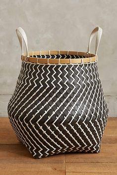 Zigzag Stripe Baskets - anthropologie.com