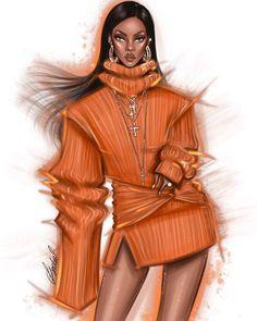 Fashion Model Sketch, Fashion Design Sketchbook, Fashion Design Drawings, Fashion Sketches, Arte Fashion, Editorial Fashion, Moda Aesthetic, Estilo Rihanna, Fashion Design Template