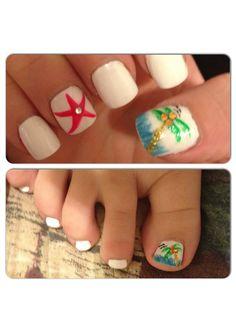 Beach nails, vacation nails #Milwaukee #PolishedNailBar we <3 these! www.Facebook.com/NailBarPolished