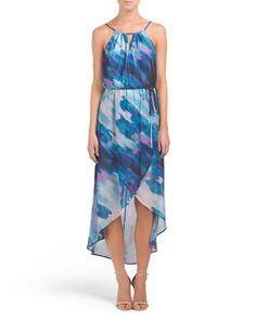 Watercolor Printed Hi Lo Maxi Dress - Maxi - T.J.Maxx