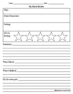 14 Awesome movie review template worksheet images