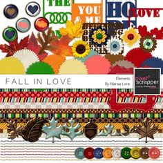 Fall In Love Elements Kit by Marisa Lerin | Pixel Scrapper digital scrapbooking