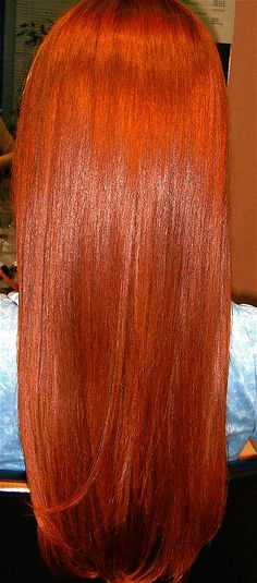 Wow...Em's red hair with a brazilian blowout