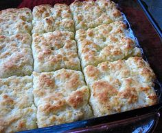 Pool of Butter Biscuits -  No more cutting butter into the dough and no rolling out.  Just mix and dump.  LOVE how easy this is