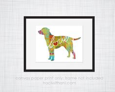 Lab / Labrador Dog Love  Canvas Paper by TraciWithaniDesigns