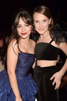 Camila with Millie Bobby Brow at the Millie Bobby Brown, Casting Girl, Browns Fans, Dinah Jane, Famous Girls, Sabrina Carpenter, Lorde, Bridesmaid Dresses, Wedding Dresses