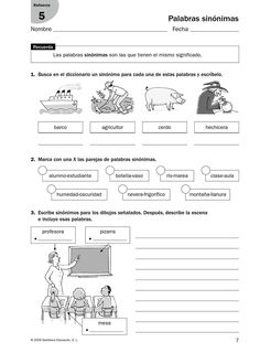 from Refuerzo - Lenguaje Elementary Spanish, Spanish Classroom, Spanish Teaching Resources, School Hacks, Home Schooling, Spanish Language, Speech Therapy, Kids Learning, Homeschool