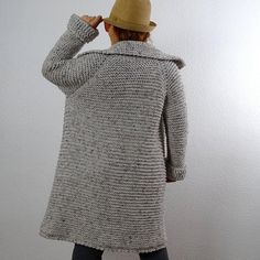 Long Cardigan Coat, Slouchy Cardigan, Oversized Cardigan, Wool Cardigan, Baseball Nursery, Thick Sweaters, Knitted Coat, Ecru Color, Crochet Clothes