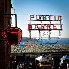 Pike Street Market - Seattles Best Coffee Seattle WA