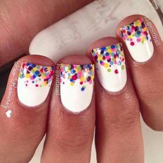 Looking for new nail art ideas for your short nails recently? These are awesome designs you can realistically accomplish at least ideas you can modify for your own nails! Chic and fun nail art aren just reserved for long nails, we guarantee it! Diy Nails, Cute Nails, Shellac Manicure, Manicure Ideas, Nail Tips, Dot Nail Designs, Nails Design, Rainbow Nail Art Designs, Bright Nail Designs