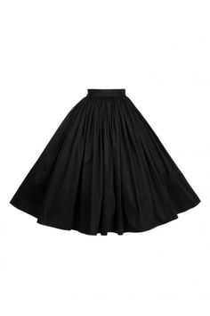 Pinup Girl Clothing Jenny Plain Swing Skirt - Pinup Girl Clothing from Collectif UK