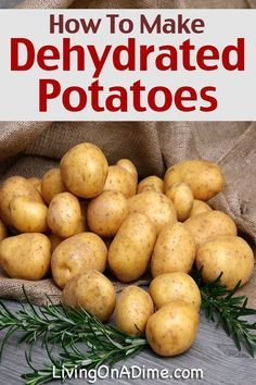 How to Make Dehydrated Potatoes Living on a Dime is part of Dehydrated vegetables It& easy to make dehydrated potatoes and they are an inexpensive and versatile This post includes tips to dehydra - Canning Food Preservation, Preserving Food, Dehydrate Potatoes, Dehydrated Vegetables, Dehydrated Food Recipes, Dehydrated Potato Recipe, Cocina Natural, Canned Food Storage, Canning Recipes