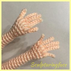 Crocheted the hands Testing my own patterns for the patterns book #amigurumi #crochet #pattern by #Sculpturingface