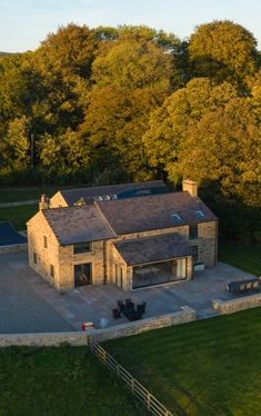For this farmhouse in Moor Nook, Ribble Valley, the client wanted to create a home that was sympathetic to the original building with a contemporary twist. Cottage Extension, House Extension Design, Barn House Conversion, Stone Exterior Houses, Self Build Houses, Modern Barn House, Luxury Homes Dream Houses, House Goals, Villas