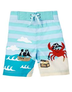 Gymboree Boys (3mos - 5T) Pirate Crab  Swim Trunks